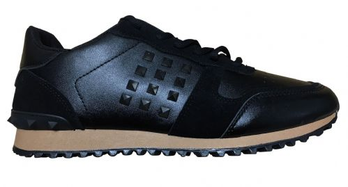 NEW Mens Fargo Black Low Tops Shoes Trainers (1)